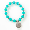 Turquoise Beaded Tree of Life Bracelet