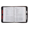 A Man's Heart Brown Faux Leather Classic Bible Cover - Proverbs 16:9