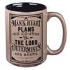 A Man's Heart Coffee Mug - Proverbs 16:9