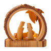 Olive Wood Grotto Shelter Ornament