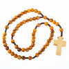 Olive Wood Rosary With Light Wood Cross   Museum of the Bible