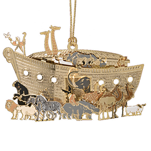 Noah's Ark Golden Ornament | Museum of the Bible