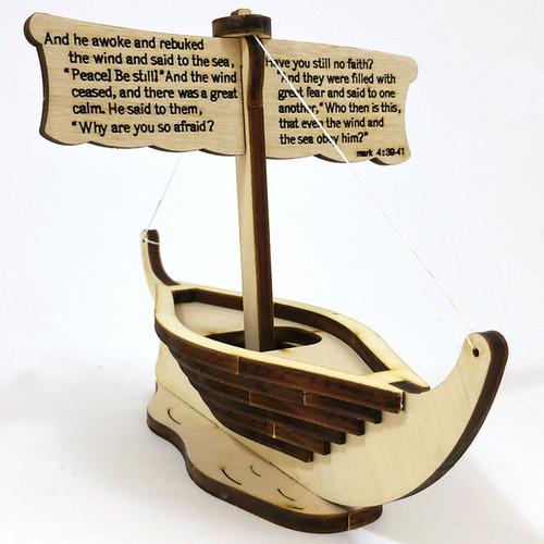 Jesus Calms the Storm Boat Wooden Puzzle Kit