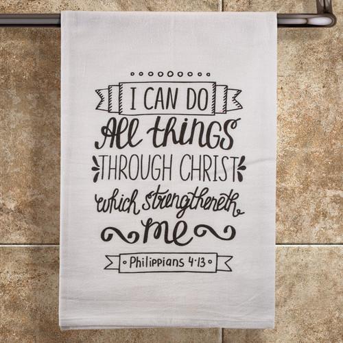 Strengtheneth Me Towel