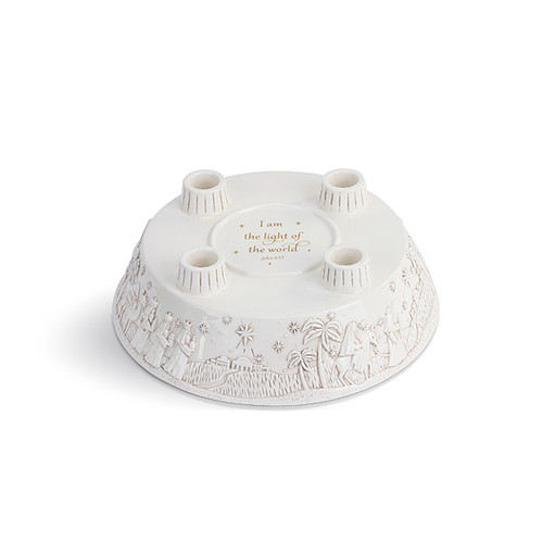 Nativity Advent Wreathe Candle Holder