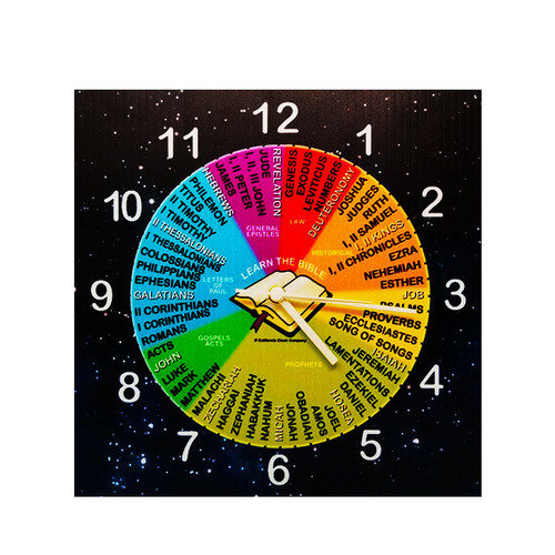 Bible Clock - Build Your Own Clock Kit with Memorization Cards