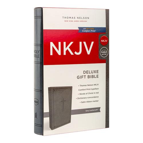 NKJV Deluxe Gift Bible in Gray