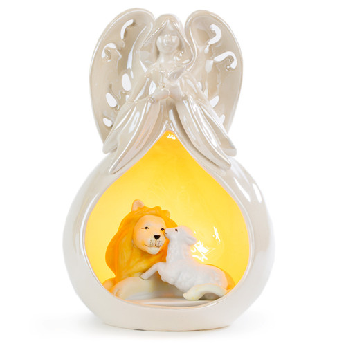 Angel Over Lion and Lamb Night Light