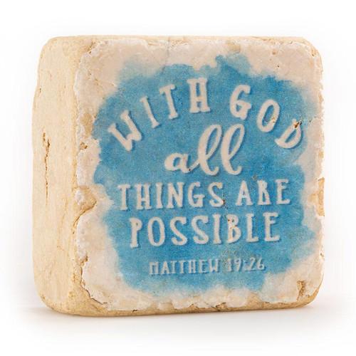 Matthew 19:26 Decorative Stone