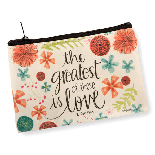 Greatest Is Love Coin Purse