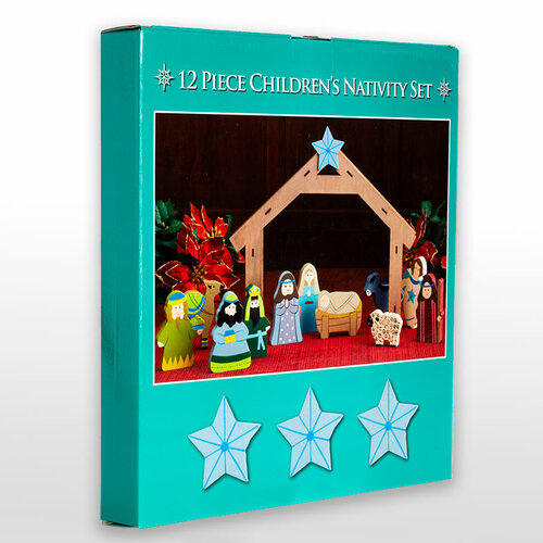 12 Piece Children's Nativity Set