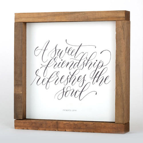 Friendship Wall Art Frame | 8x8