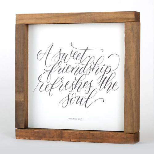 Proverbs 27:9 Wall Art Wood Frame | 8x8
