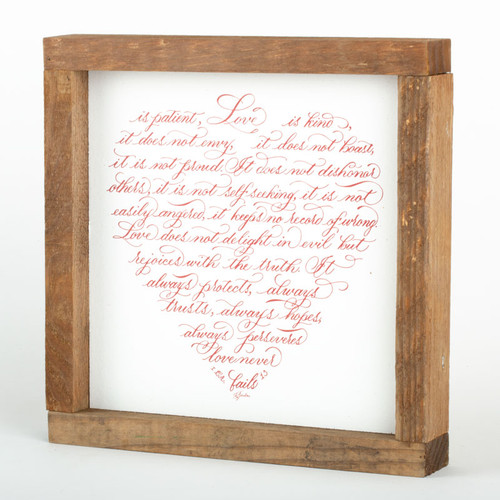 "Love Wall Art Frame | 8"" × 8"""