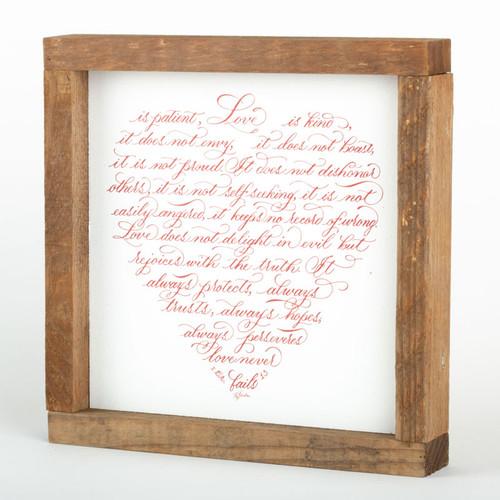 "Love Wall Art Frame | 8"" × 8"""