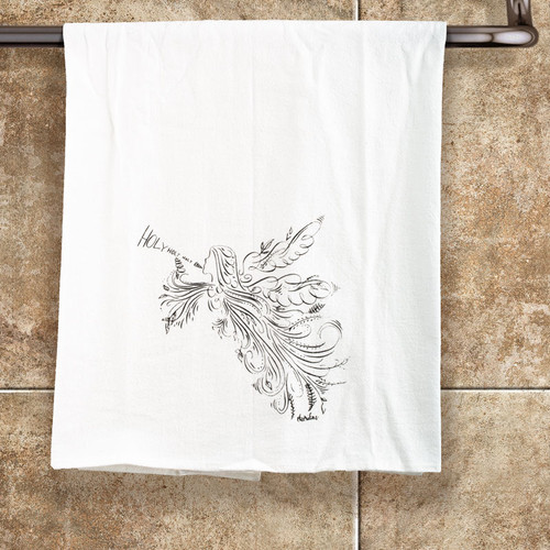 Singing Angel Tea Towel