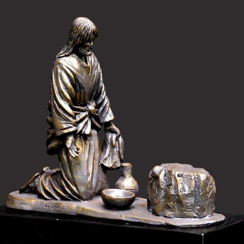 He Comes To Serve Sculpture
