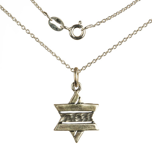 Striped Star of David Pendant