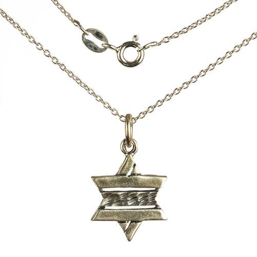 Striped Star of David Pendant