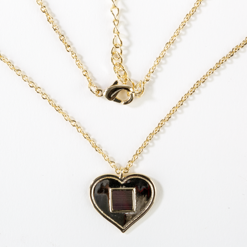 Gold Heart Nano Bible Necklace