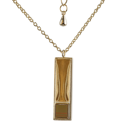 Gold Bar Nano Bible Necklace