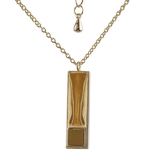 Gold Bar Nano Bible Necklace