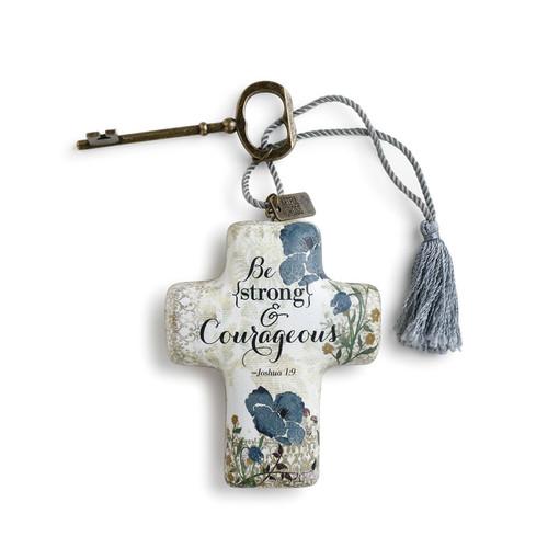 Strong & Courageous Artful Cross