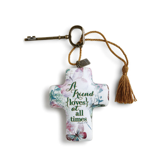 """A Friend Loves at All Times Artful Cross 4"""""""