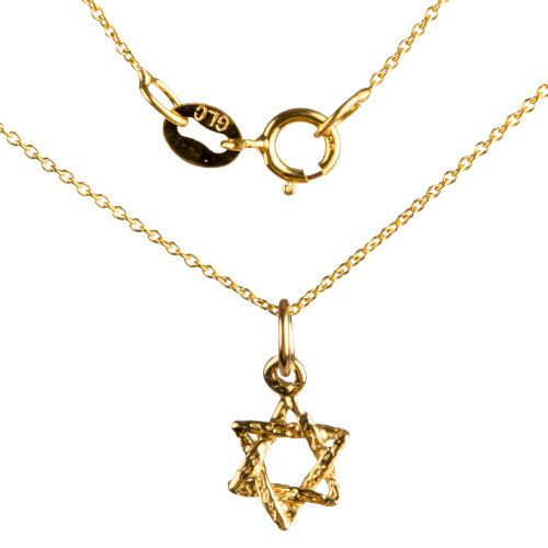 Petite Woven Star of David Pendant