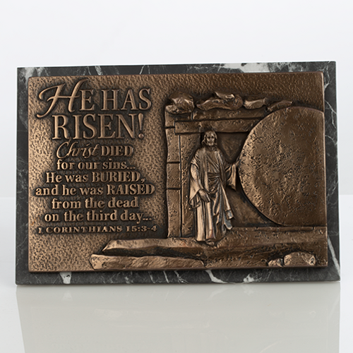 He is Risen Tabletop Decor Plaque