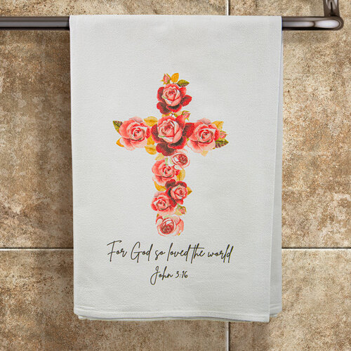 "John 3:16 ""God So Loved the World"" Towel"