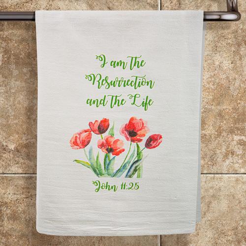 "John 11:25 ""Resurrection and Life"" Towel"