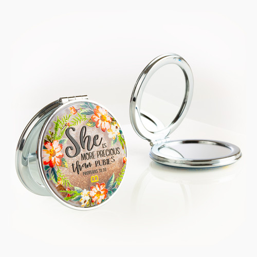 Compact Mirror - More Precious than Rubies