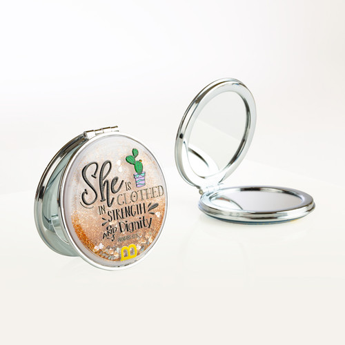 Compact Mirror - Strength and Dignity
