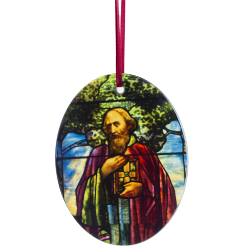 Matthew the Evangelist Tiffany Stained-Glass Ornament