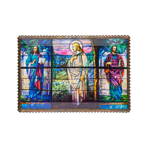 Easter Morning and the Four Evangelists by Tiffany Hanging Plaque 4x6
