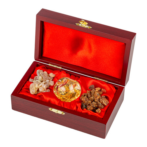 Frankincense, Gold & Myrrh Wooden Box Set