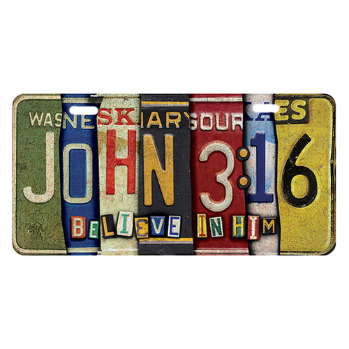 License Plate for Cars and Motorcycles - John 3:16