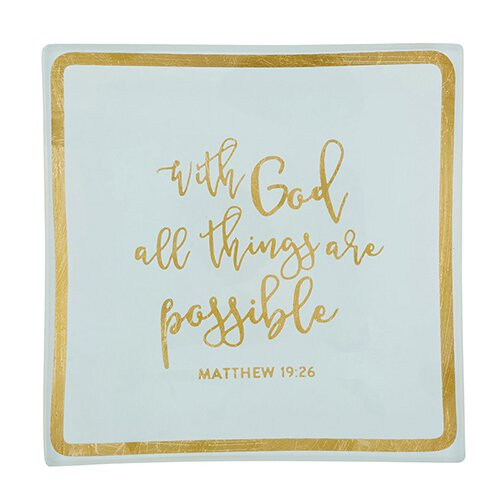 All Things Are Possible Trinket Tray