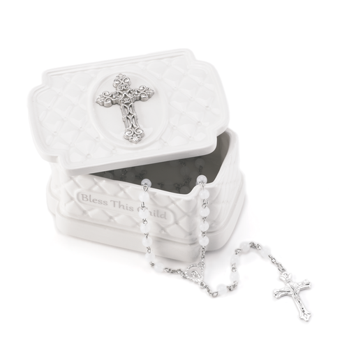 Bless This Child Keepsake Box with Rosary