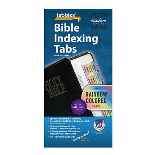 Rainbow Bible Tabs - Catholic