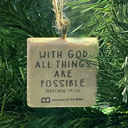 All Things Are Possible Stone Ornament