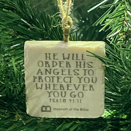 Angels Protect You Stone Ornament