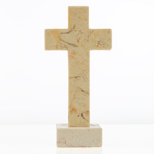 Standing Jerusalem Stone Cross