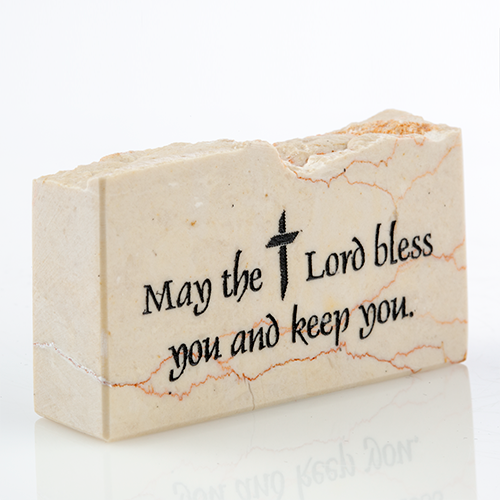 """May the Lord Bless You and Keep You"" Promise Stone"