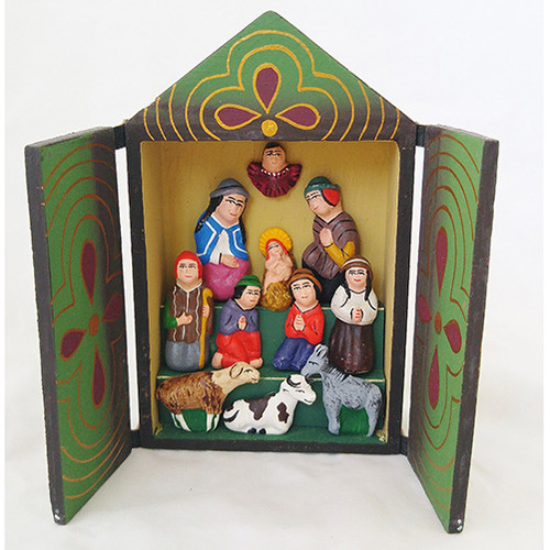 Nativity Wood Retablo - Peru
