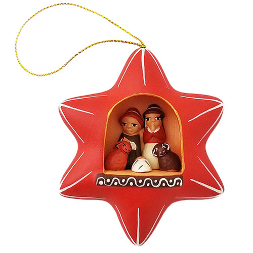 Red Star Nativity Ornament - Peru