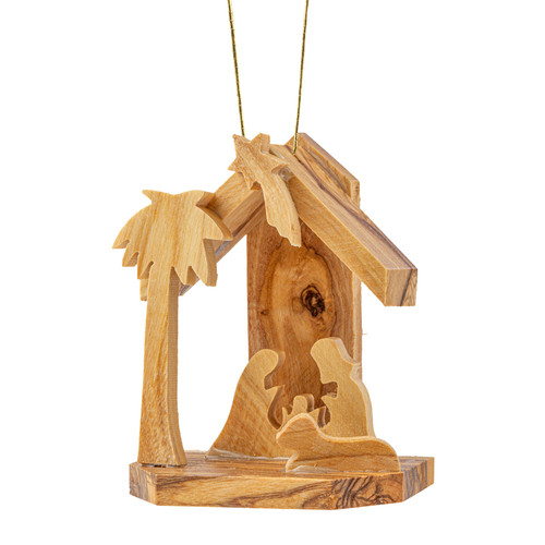 Mini Arch Grotto Nativity Ornament - Bethlehem