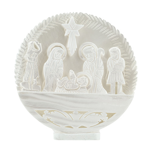 Mother-of-Pearl Round Nativity - Bethlehem