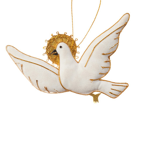 Small White Dove Ornament - Thailand